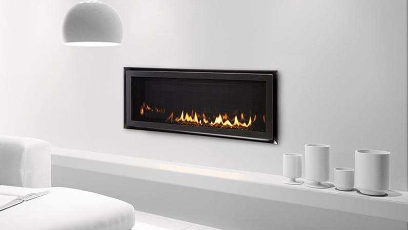 wall mounted gas fireplace